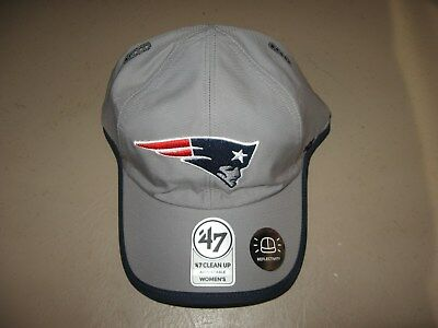 455b12324af New  47 Brand New England Patriots Womens Clean Up Adjustabe Reflective Hat