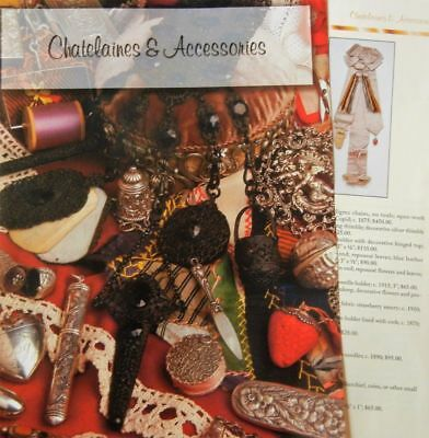 8p History Article + Pics -   Antique Chatelaines & Accessories Sewing Tools
