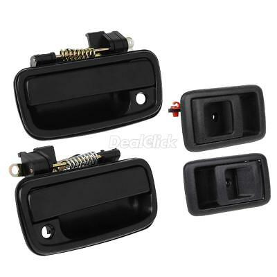 ALL 4 Set Black Outer Inner Door Handle Front Right Left for 01-04 Toyota Tacoma