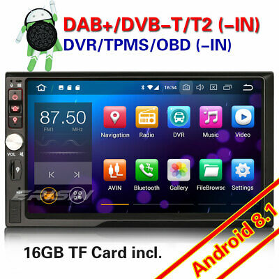 Double 2 Din Android 8.1 Car Stereo GPS WiFi DAB+4G DTV Bluetooth OBD SD Sat Nav