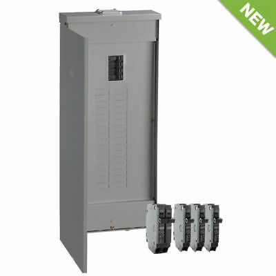 GE 200-Amp 40-Circuit 32-Space Outdoor Main Breaker Load Center Panel Box, NEW!