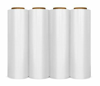 "18"" x 1500' 4 Rolls Pallet Wrap Stretch Film Hand Shrink Wrap 1500FT * 80 Gauge"