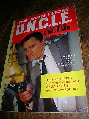 The Man from UNCLE Comic Album   Number 1   1966  Good Condition