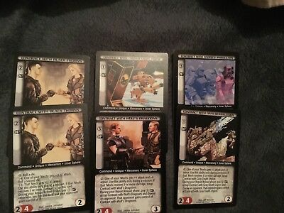 Battletech CCG - 6 rare contract cards
