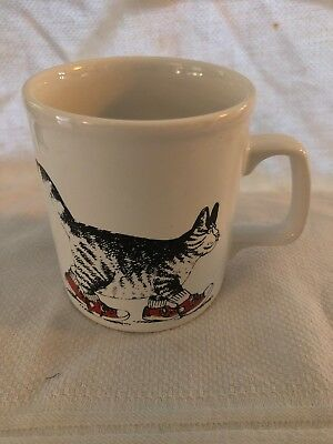 B Kliban Cat With Red Sneakers Coffee Cup Mug Kiln Craft Made In England