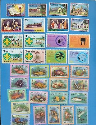 TURKS & CAICOS  ISLANDS - scott 38 // 199 mixed hinged & MNH  1976-1983, 2 scans