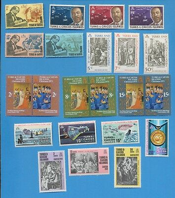 TURKS & CAICOS  ISLANDS - scott 178 // 358 mixed hinged & MNH 1968-1978, 2 scans