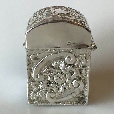 STERLING SILVER PLAYING CARD CASE BIRMINGHAM ANTIQUE 1897 43g