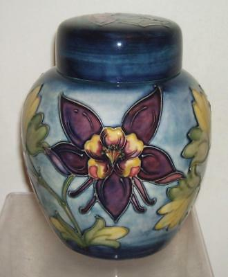 Moorcroft Superb Columbine Ginger Jar - Perfect Condition