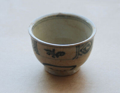 Lot of 4 Hoi An Hoard 15th/16th  Century Blue & White Bell Shaped Cups -Original