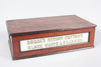 "Vintage ~ c1880 ""Brook's Sewing Cottons""~ Sewing Cotton Reel ~ Shop Cabinet"