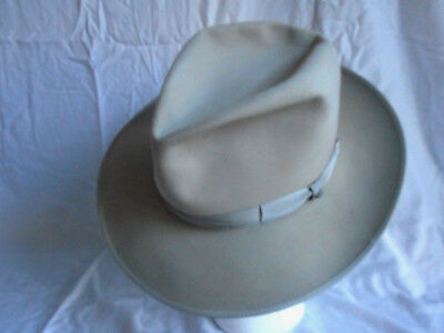 STUNNING Vintage 70s-80s JAY LORD (Borden) FEDORA, Silverbelly, 7 fits to 7 1/8