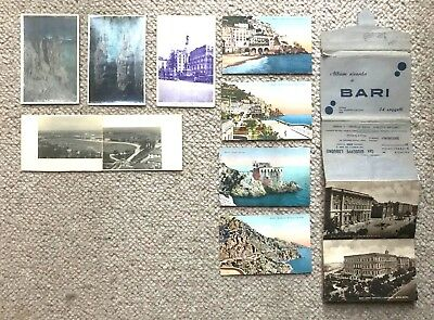 Collection Of Postcards Of Italy + 24 Postcard Album of Bari From WW2 :Fair Cond