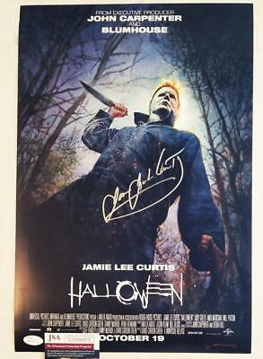 Entertainment Memorabilia James Jude Courtney Signed Halloween Movie 12x18 Poster Coa Proof Michael Myers