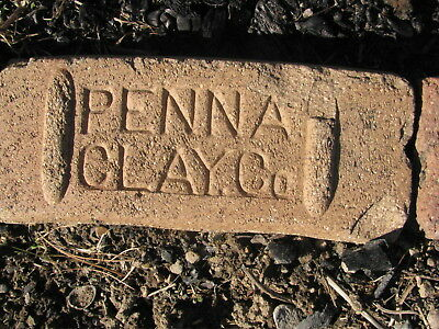 OLD VTG antique Brick reclaimed Stamped PENNA CLAY CO