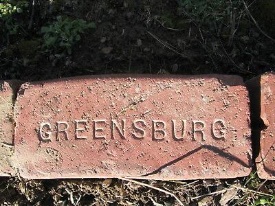 OLD VTG antique Brick reclaimed Stamped Greensburg  brickGGG