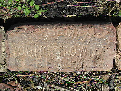 OLD VTG antique Brick reclaimed Stamped BESSEMER YOUNGSTOWN BLOCK