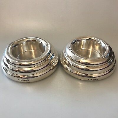 Pair Sterling silver candle holders