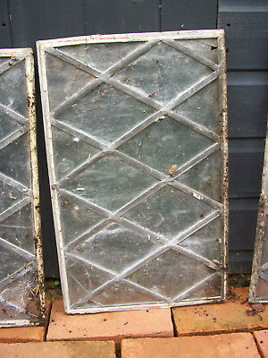 Leaded windows - clear glass panels x 21 pieces