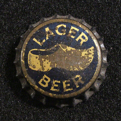 Wooden Shoe Lager Cork Lined Beer Bottle Cap Crown Star Brewing Minster, Ohio Oh