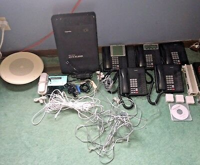 Complete Toshiba Strata CTX28 Phone System With Voicemail + More! FREE SHIPPING!