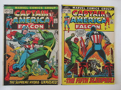 Captain America 147 &`148 Both Vg (Combined Shipping) (See 12 Photos)