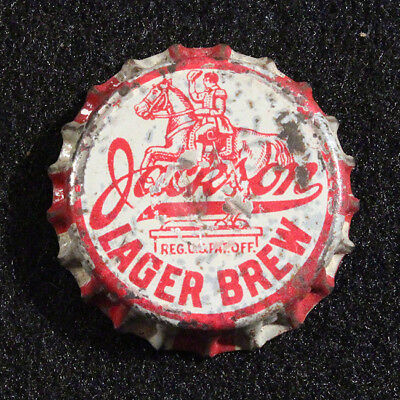 Jackson Lager Brew Cork Lined Beer Bottle Cap Jax Brewing New Orleans, Louisiana