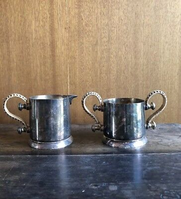 Silver Sugar and creamer Set Sterling