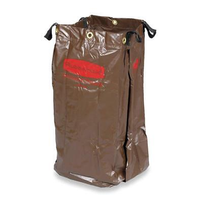 New Rubbermaid Brown Vinyl Replacement Bag for Housekeeping Cart 6166-88