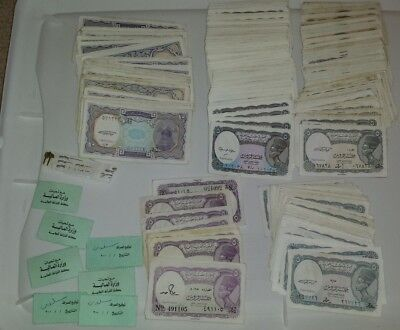 375 pieces 5/10 EGYPT PIASTRE BANKNOTES/NOTES-EGYPTIAN LOT PIASTER BUNDLE + UNC