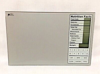 PERFECT PORTIONS Digital Food Scale PORTION CALORIE CONTROL w/ Nutrition Facts