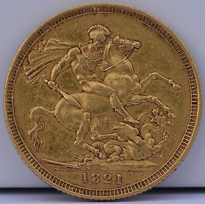George IV gold Sovereign 1821 AU