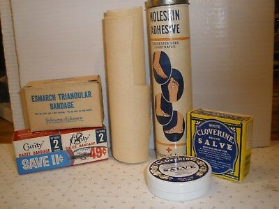 Vintage Medical Supplies - Boxed Materials (Johnson & Johnson, Curity + )