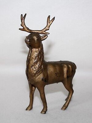 "Antique Cast Iron Still Bank ""REINDEER"" Circa 1900's"