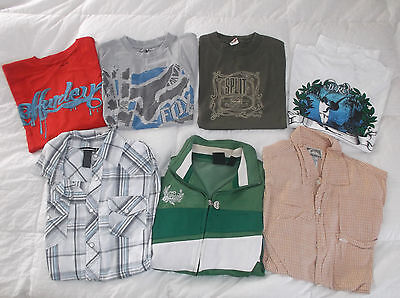 LOT 020 of Surf & Skate Shirts: Hurley, Volcom, Vans, Quiksilver, Billabong, DC