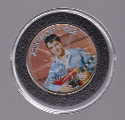 Elvis Presley Roustabout 1964 Colorized Coin Kennedy USA Half Dollar B-701