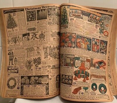 1930 Antique Montgomery Ward Catalog Fall & Christmas Marx Toys Depression Glass