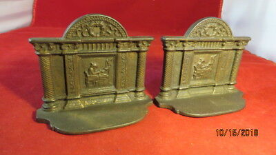 Vintage Early 1800s – Early 1900s classical Theme Cast Iron Bookends