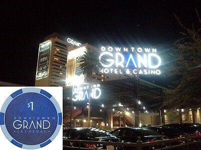 * Downtown GRAND Hotel - Casino Las Vegas 1 US Dollar $ Chip Roulette Black jack