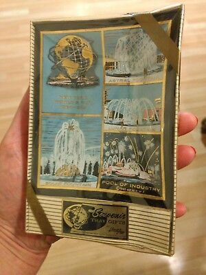 New York World's Fair 1964 - 1965 Fountain Scenes Souvenir Glass Tray Houze Art