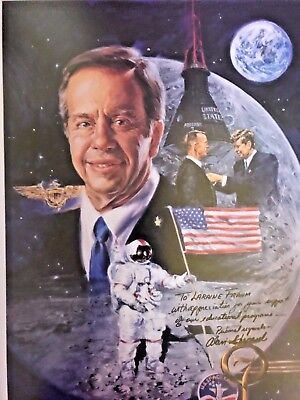 """Signed Alan Shepard & Tom Fricker - """"first American In Space"""" Le 634/2000"""