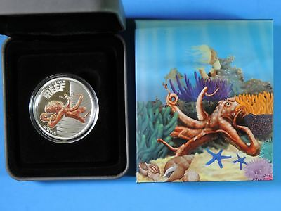2012 Australia Sea Life II The Reef Octopus Colorized 50 Cents 1/2oz Silver Coin