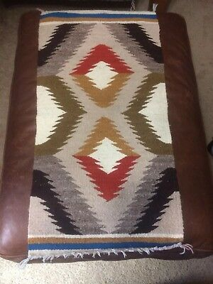 "Navajo Rug Throw 37""x18"""