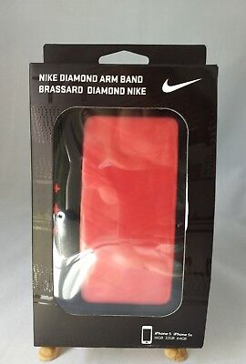 NIKE Diamond Running Arm Band for Apple iPhone 5 & 5s Red & Black NEW IN BOX