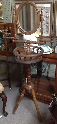 Vintage Antique Standing Shaving Mirror With Two Movable Candle Holder
