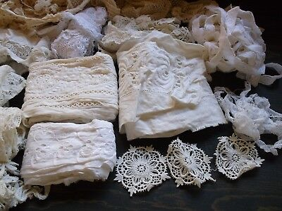 Antique Lace Trim yards and pieces Vintage doll cloths Non-smoking Home NICE!
