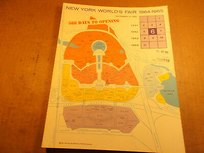 1964 New York Worlds Fair Preview Book, 1962, 588 Days to Opening
