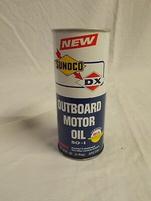 Vintage SUNOCO DX Outboard Motor Oil 1-Pt Can