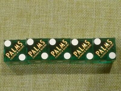 Palms Casino Hotel Stick Of 5 Dice Green With Gold Text Las Vegas Nevada