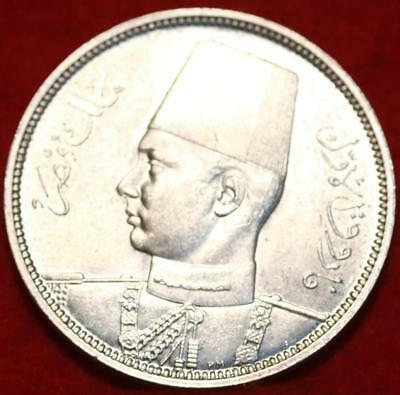 Uncirculated 1939 Egypt 5 Piastres Silver Foreign Coin